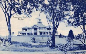 South Africa Durban Government House postcard