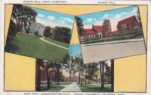 Lehman Hall, Schenk Hall, Mees Hall, Administration Bldg. Capital University,...