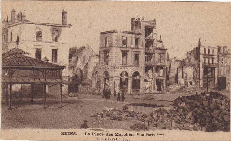 REIMS, The Market place, Marne, France, 00-10s