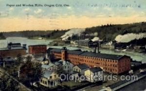Paper & Wollen Mills Oregon City, OR, USA Postcard Post Cards Old Vintage Ant...