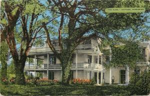 Natchez Mississippi~The Elms~Jos B. Kellogg~Spanish Era~Gardens~1954 Postcard