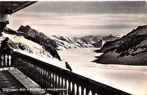 Switzerland Old Vintage Antique Post Card Jungfraujoch 1951  Real Photo