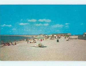 Unused Pre-1980 SCENE AT BEACH Watch Hill Rhode Island RI M6487-12