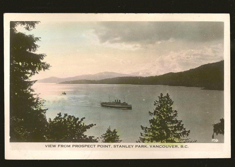 View From Prospect Point Stanley Park Vancouver BC Gowan Sutton Color Postcard