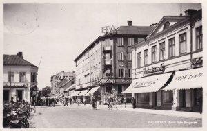 Halmstad Parti Brogatan Sweden Restaurant Bicycles Postcard
