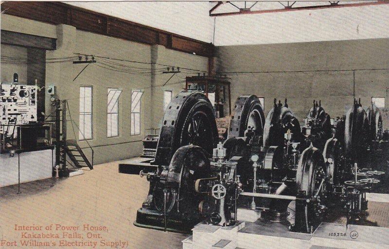 KAKABEKA FALLS , Ontario , 1900-10s ; Interior of Power House