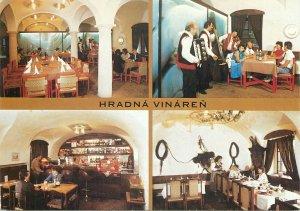 Postcard Bratislava castle wine cellar various aspects ethnic types folk outfits
