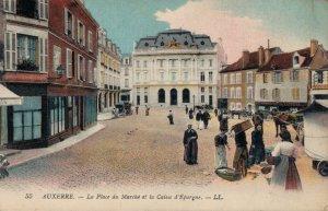 France Auxerre La Place du Marché et le Caisse d'Epargne 03.28