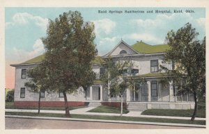 ENID , Oklahoma , 1910s ; Enid Springs Sanitorium & Hospital