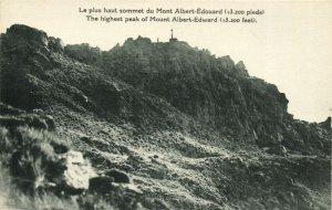 PC CPA PAPUA NEW GUINEA, PEAK OF MOUNT ALBERT-EDWARD, Vintage Postcard (b19784)