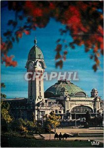 Modern Postcard Limoges Haute Vienne The Field of July and the Gare des Bened...
