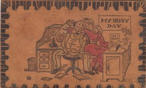 COMIC, PU-1906; My busy day, Flirty office co-workers