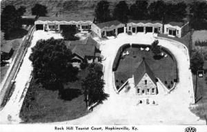 Hopkinsville Kentucky Rock Hill Tourist Court Antique Postcard J52830
