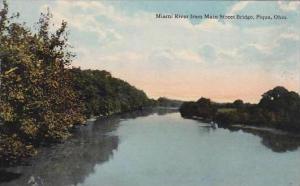 Ohio Piqua Miami River From Main Street Bridge