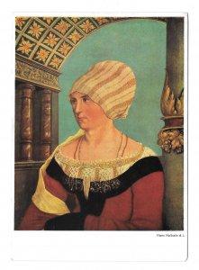 Portrait Wife of Jacob Meyer Burgermeister Hans Holbein Hanfstaengl 4X6 Postcard