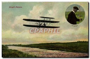 Old Postcard Jet Aviation Wright biplane Wright & # 39s