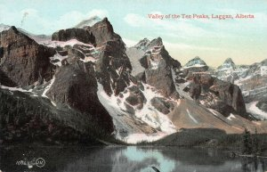 Valley of the Ten Peaks, Laggan, Alberta, Canada, early postcard, unused
