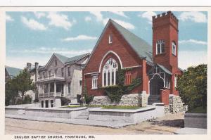 FROSTBURG , Maryland, 00-10s ; English Baptist Church