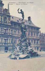 Statue De Brabo, Anvers (Antwerp), Belgium, 1900-1910s