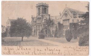 Somerset; Queens College, Taunton PPC Local 1903 PMK to Miss Newton, Nottingham