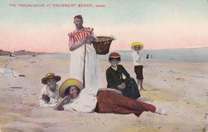 Troubadours At Salisbury Beach Mass USA Antique Postcard