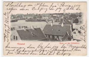 Panorama Byen set fra Ostbakken Thisted Denmark 1902 postcard