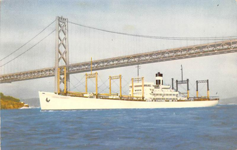 Freighter Shipping Postcard Old Vintage Antique Post Card Outbound to the Ori...