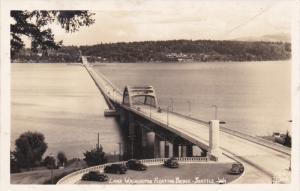 RP; SEATTLE, Washington; Lake Washington Floating Bridge, 1950s