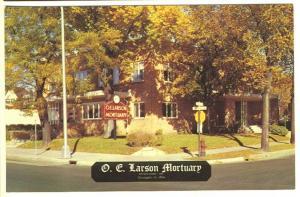 Minneapolis MN O. E. Larson Mortuary Funeral Home Postcard