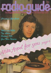Mike Michael Aspel Radio 1 DJ Dee Jay 1975 Magazine