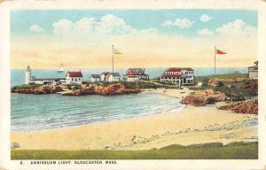 Gloucester Massachusetts Annisquam Lighthouse Scenic View Postcard JD933457