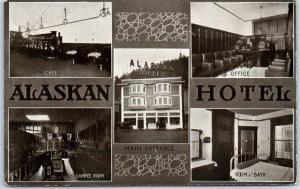 Juneau, Alaska Postcard ALASKAN HOTEL Multi-View HHT w/ 1914 AK Cancel