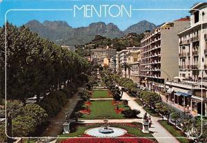 France la Cote d'Azur Menton, Le Jardin Bioves Garden Promenade Fountain