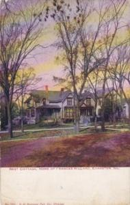 Illinois Evanston Rest Cottage Home Of Frances Willard