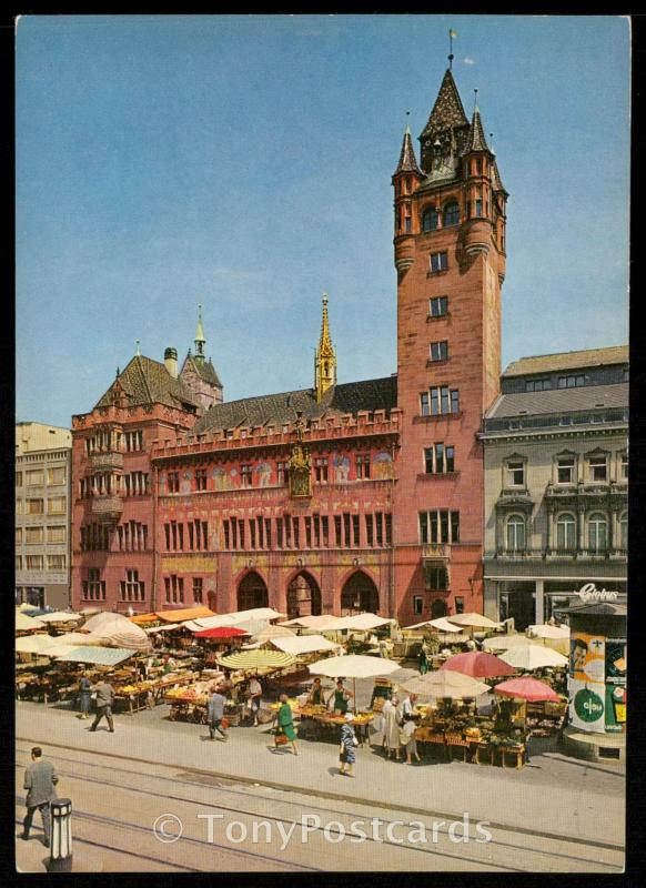 Basle. Townhall and Marketplace