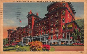 Physical Culture Hotel, Dansville, New York, Early Postcard, Used in 1945