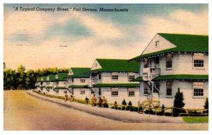 Massachusetts Fort Devens   A typical company street