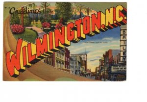 Greetings from Wilmington, North Carolina, Front Street Bailey Theatre Used 1948