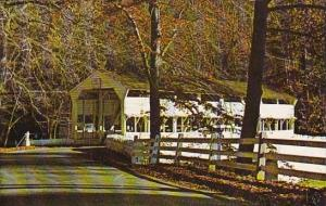 Pennsylvania Valley Forge Historic Old Covered Bridge At Valley Forga