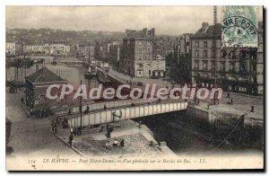 Old Postcard Le Havre Pont Notre Dame Vue Generale Sur Le Bassin Du Roi