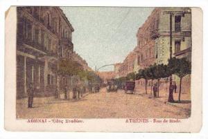 ATHENES - Rue de Stade, Greece, 1890s