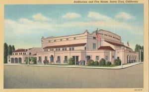 SANTA CRUZ , California, 1930-40s ;Auditorium & Fire House