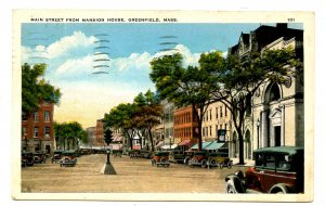 MA - Greenfield. Main Street from Mansion House