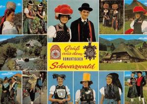 Gruess aus dem Romantischen Schwarzwald, Traditional Costumes People House River