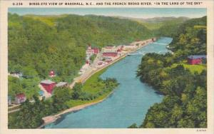 North Carolina Marshall Birds Eye View Of Marshall And The French Broad River