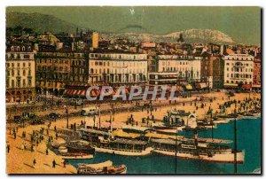 Old Postcard Marseille Port and Quai des Belges