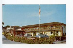 Monterey CA Motel Pool Old Cars Postcard
