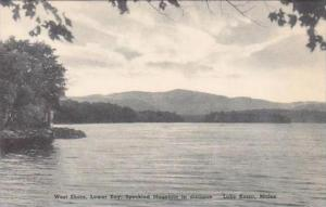 Maine Lake Kezar West Shore Lower Bay Speckled Mountain In Distance Albertype