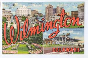Large Letter Script Greetings from Wilmington DE Multiview