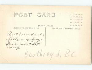 Pre-1918 rppc NICE VIEW Boothroyd Boston Bar & North Bend & Hope BC W1092